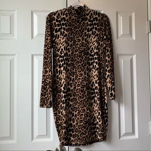 Fashion Nova Leopard Print Dress (NEVER WORN)